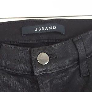 J Brand Jeans - J Brand Mid-Rise Skinny Coated Black Lace Jeans 27